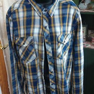 Plaid flannel boyfriend shirt